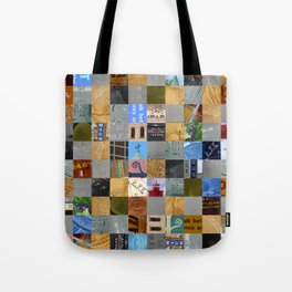 Pieces of Pictures Collage Tote Bag