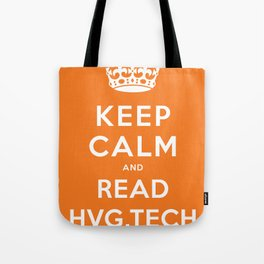 Keep calm and read HVG.tech Tote Bag
