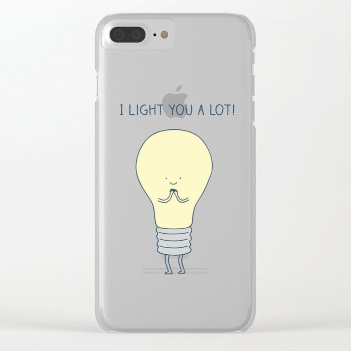 I light you a lot! Clear iPhone Case