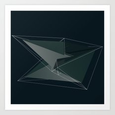 3d shapes Art Print