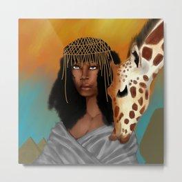 Nubian Beauty Metal Print