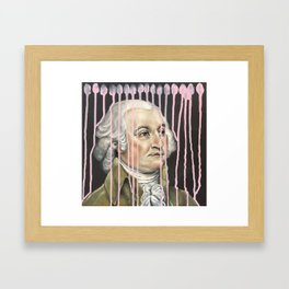 Pink Drip John Adams Framed Art Print