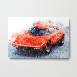 Lancia Stratos Metal Print