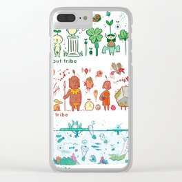 Garden Tribes Clear iPhone Case