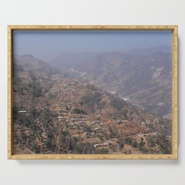 Mountains in Sindhupalchok Nepal Serving Tray