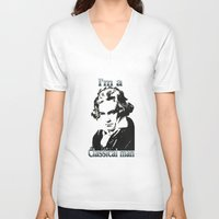 beethoven V-neck T-shirts featuring Beethoven by Stitched up designs