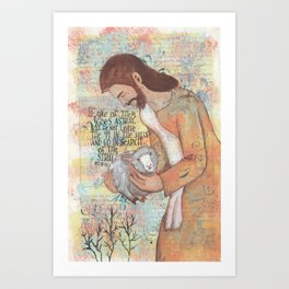 Shepherd by patsy paterno Art Print