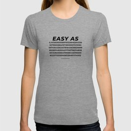 Easy As Pi Numbers T-shirt