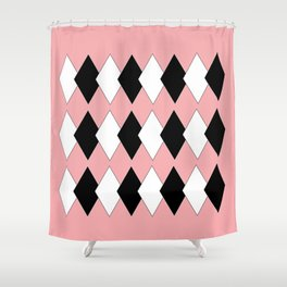 Diamonds On Pink Shower Curtain