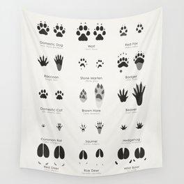 Animal Tracks (Hidden Tracks) Wall Tapestry