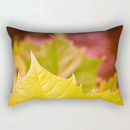 Golden Olive Sycamore Leaf Rectangular Pillow