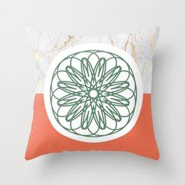 Mandala in Marble Throw Pillow