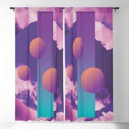 Vaporwave sky 3 / Circles / 80s / 90s / aesthetic Blackout Curtain