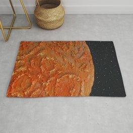 Mars / Mixed Media Painting Rug