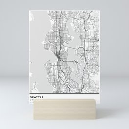 Seattle Simple Map Mini Art Print