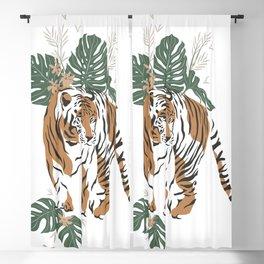 Magic Jungle Composition Tiger Blackout Curtain