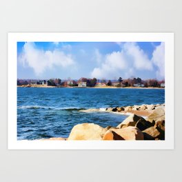 New England Shoreline - Painterly Art Print