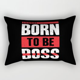 Born To Be Boss Rectangular Pillow