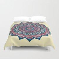 islam Duvet Covers featuring Mandala by Mantra Mandala