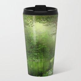 Summer Forest River Metal Travel Mug