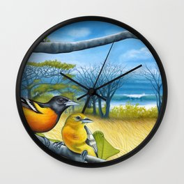 Surf Report Wall Clock