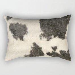 Black & White Cow Hide Rectangular Pillow