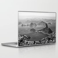 rio de janeiro Laptop & iPad Skins featuring Rio De Janeiro by ricardoaguiar