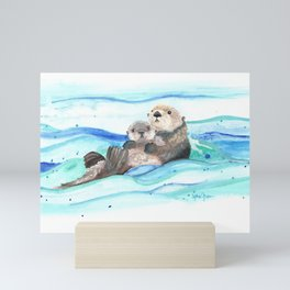Otterly Loved Mini Art Print