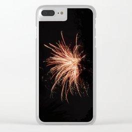 Lone Firework Clear iPhone Case
