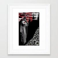 doctor Framed Art Prints featuring DOCTOR by BLEEDINGHEART