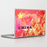 china Laptop & iPad Skins featuring China by Brian Raggatt