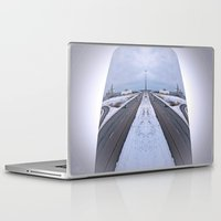 cityscape Laptop & iPad Skins featuring Cityscape by Irfan Gillani