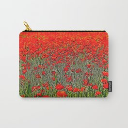red poppy in the garden Carry-All Pouch