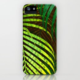 TROPICAL GREENERY LEAVES no8a iPhone Case