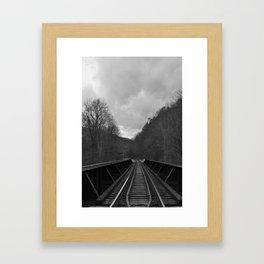 Laurel River railroad :: North Carolina Framed Art Print