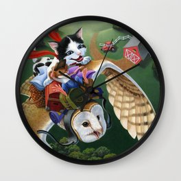 On Our Way Wall Clock