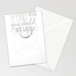 Volleyball Shirts With Sayings-You Wish You Hit Like A Girl Stationery Cards