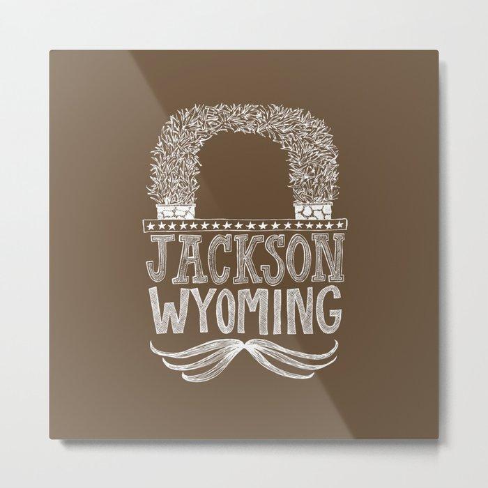 Jackson Wyoming Antler Arches Metal Print