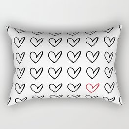 HEARTS ALL OVER PATTERN IV Rectangular Pillow