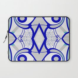 Blue morning - abstract decorative pattern Laptop Sleeve