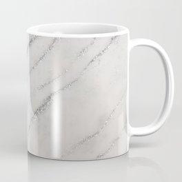Marble Silver Glitter Glam #1 #shiny #gem #decor #art #society6 Coffee Mug