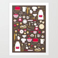 Teatime Treat Art Print