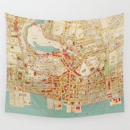 Vintage Map of Yonkers NY (1893) Wall Tapestry