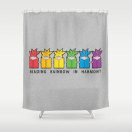 Reading Rainbow in Harmony Shower Curtain