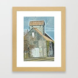 Barn Quilt on The Side Framed Art Print