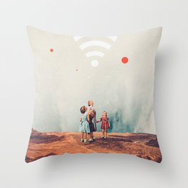 Wirelessly connected to Eternity Throw Pillow