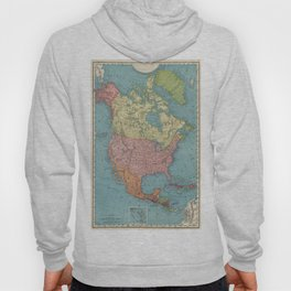 Vintage Map of North America (1903) Hoody