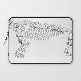 Vintage Antique Animal Skeleton Illustration Laptop Sleeve