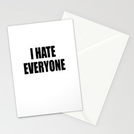 I Hate Everyone - White - Hipster - Swag -   White Case (C) Andre Gif Stationery Cards