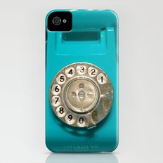OLD CYAN PHONE - for IPhone iPhone (4, 4s) Slim Case